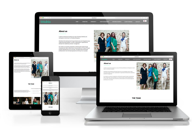Редизайн на уеб сайт за Adrio Consulting