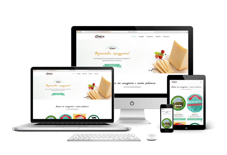 Уеб редизайн за Млекарница Орбит-М