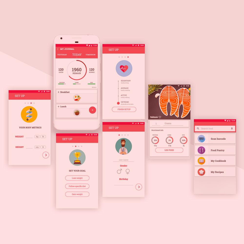 UX/UI дизайн за мобилното приложение на SlimBIte