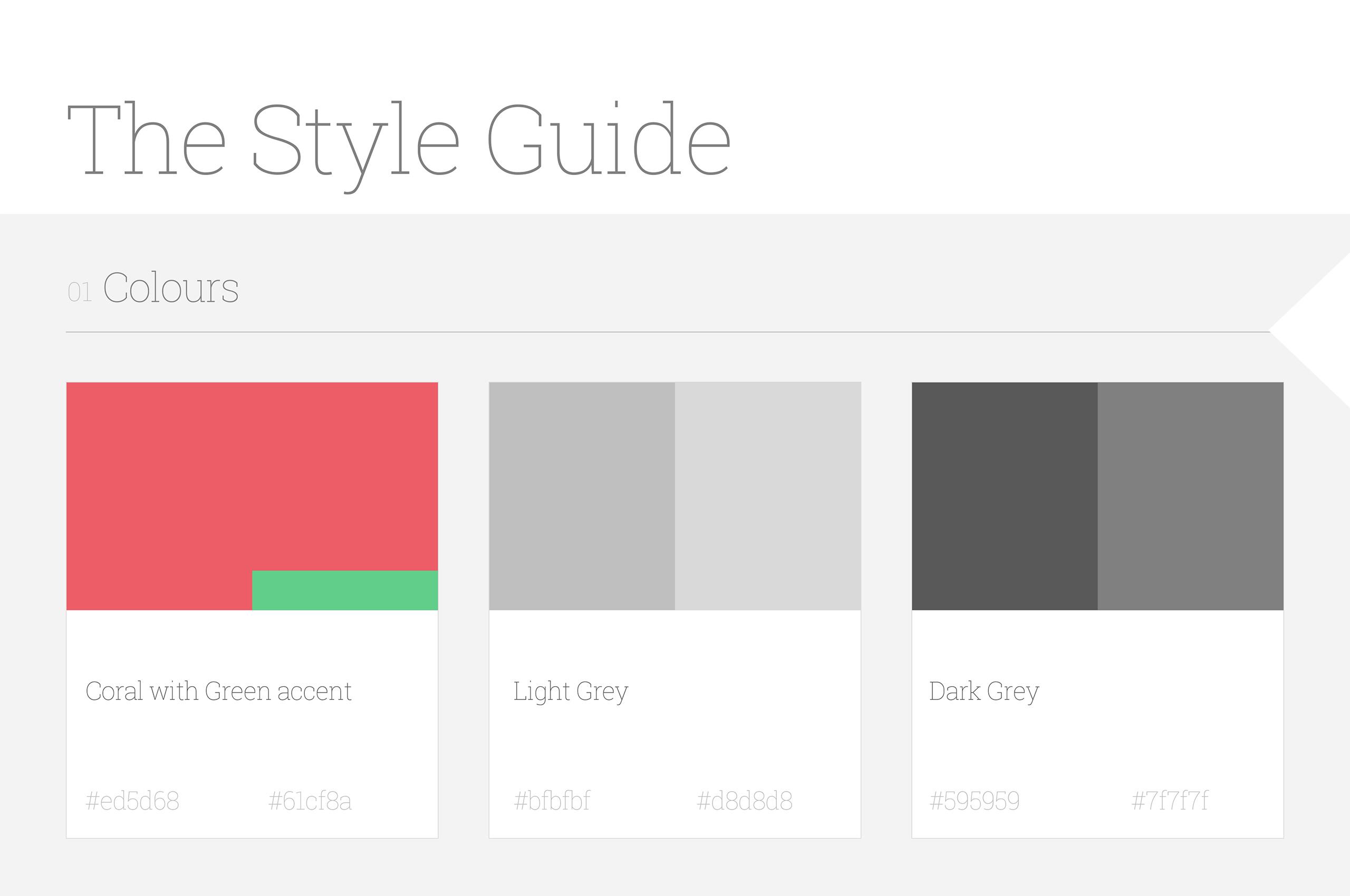 Style guide - UX/UI дизайн за мобилното приложение на SlimBIte